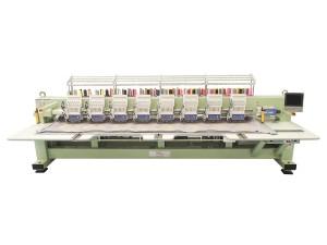 Máquina de Bordar Industrial de Alta Velocidade 8 Cabeças 12 Agulhas com 2 Aparelhos de Lantejoula DMP
