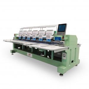 Máquina de Bordar Industrial de Alta Velocidade 6 Cabeças 12 Agulhas com 2 Aparelhos de Lantejoula DMP