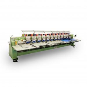 Máquina de Bordar Industrial de Alta Velocidade 12 Cabeças 12 Agulhas com Aparelho de Lantejoula DMP