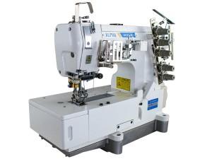Máquina de Costura Galoneira Base Plana Fechada para Tecidos Leves e Médios com Motor Direct Drive ALPHA