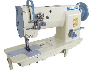 Máquina de Costura Reta Transporte Triplo 2 Agulhas ALPHA Para Tecidos Pesados