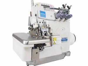 Máquina de Costura Overlock Eletrônica 3 Fios Pneumática com Embutidor de Correntinha e Motor Direct Drive ALPHA