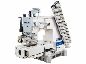 Máquina de Costura Industrial Elastiqueira 12 Agulhas com Catraca ALPHA LH-8008-12064P