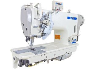 Máquina de Costura Pespontadeira Eletrônica com Barra de Agulha Alternada e Lançadeira Grande para Tecidos Pesados ALPHA