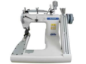 Máquina de Costura Fechadeira de Braço 3 Agulhas Com Catraca de Ferro Dentada e Rolete ALPHA