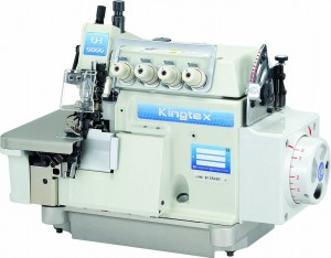 Máquina Interlock 5 Fios Larga com Transporte Superior e Motor Direct Drive para Tecidos Pesados KINGTEX