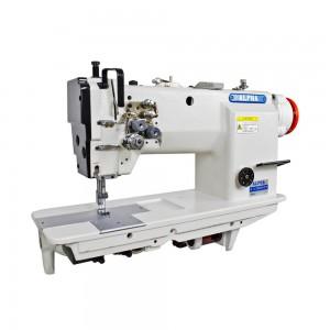 Máquina de Costura Pespontadeira Transporte Duplo 2 Agulhas Barra Fixa com Motor Direct Drive ALPHA LH-2052H-D