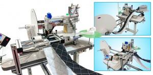 Máquina de Costura Galoneira Cilíndrica de Trançador Duplo com Catraca, Corte de Linha, Aparelho de Elástico e Motor Eletrônico Hohsing KINGTEX
