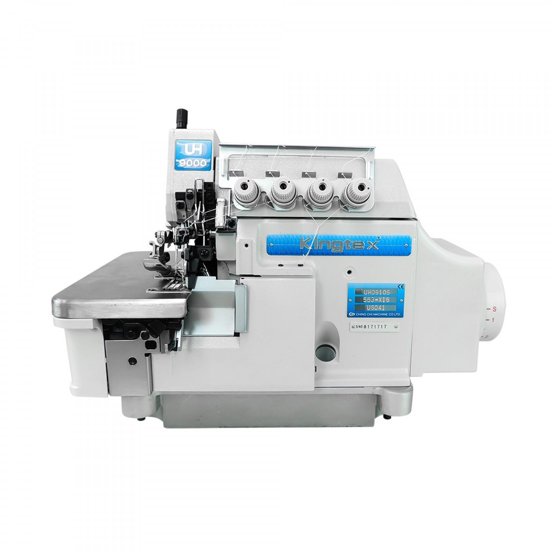 maquina-interlock-5-fios-para-tecidos-pesados-com-sugador-de-linha-levantador-de-calcador-pneumatico-e-motor-direct-drive-5000rpm-kingtex-uhd9105-553-x16-us041-cv08f2-frente