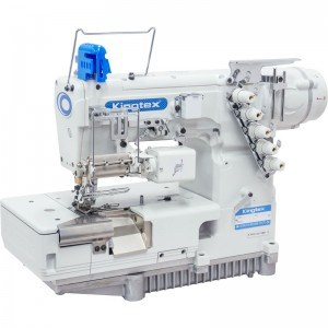 Máquina de Costura Galoneira BT Com Alimentação Automática e Dispositivo de Medição Computadorizado Para Corte de Elástico KINGTEX