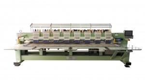 Máquina de Bordar Base Plana 8 Cabeças 12 Agulhas com Corte de Linha Automático e Motor Servo DMP