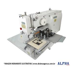 Máquina de Costura Industrial Filigrana Eletrônica para Aplicação de Velcro com Motor Servo Direct Drive e Área de Trabalho 200x100mm ALPHA
