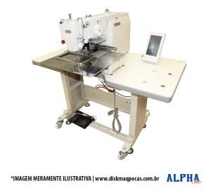 Máquina de Costura Industrial Filigrana Eletrônica com Motor Servo Direct Drive e Área de Trabalho 300x200mm ALPHA