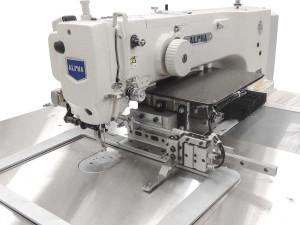 Máquina de Costura Industrial Filigrana Eletrônica com Sistema de Saída, Motor Servo Direct Drive e Área de Trabalho 300x200mm ALPHA