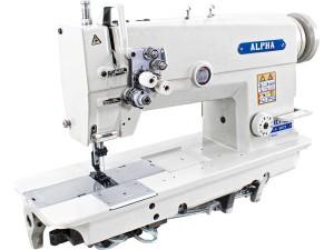 Máquina de Costura Pespontadeira Transporte Duplo 2 Agulhas Barra Fixa ALPHA Para Tecidos Pesados