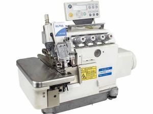 Máquina de Costura Overlock Eletrônica 5 Fios Interlock Alta Rotação Com Sugador de Resíduos ALPHA
