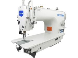 Máquina De Costura Industrial Reta ALPHA Com Motor Direct Drive HO HSING Ideal Para Tecidos Leves E Médios