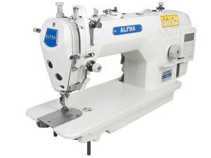Máquina De Costura Industrial Reta ALPHA Com Motor Direct Drive Para Tecidos Leves e Médios