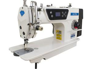 Máquina De Costura Industrial Reta ALPHA Com Motor Direct Drive E Corte de Linha Automático LH-9802D-1