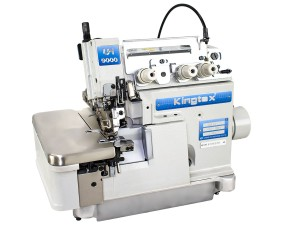 Máquina Overlock 3 Fios de Alta Rotação com Embutidor de Correntinha KINGTEX