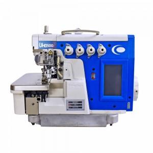 Máquina de Costura Interlock 5 Fios Eletrônica Automática com Painel LED Touch Screen e Motor Direct Drive KINGTEX