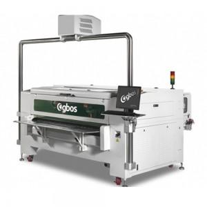 Máquina de Corte a Laser de Cabeça Dupla com Posicionamento do Projetor 1580x600mm