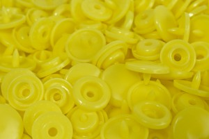 Botão de Pressão Plástico Tic Tac Nº 15 Amarelo PR-15MM 24