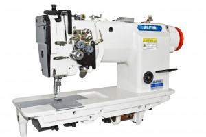 Máquina de Costura Pespontadeira Transporte Duplo 2 Agulhas Barra Alternada para Tecidos Pesados com Motor Direct Drive ALPHA